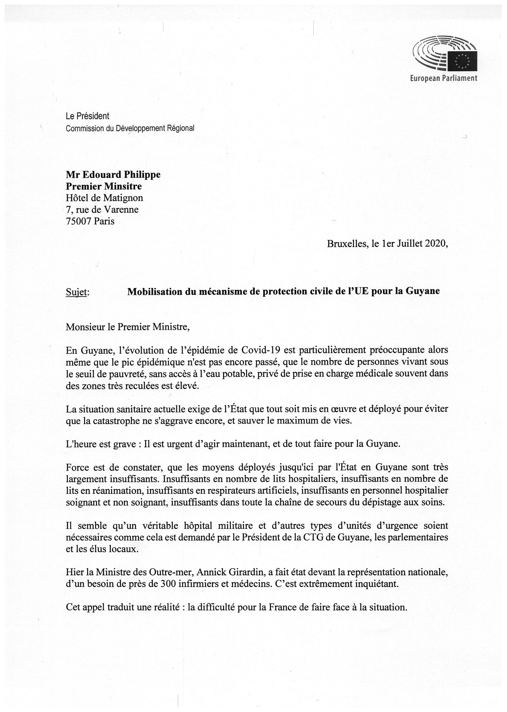 Lettre à Édouard Philippe